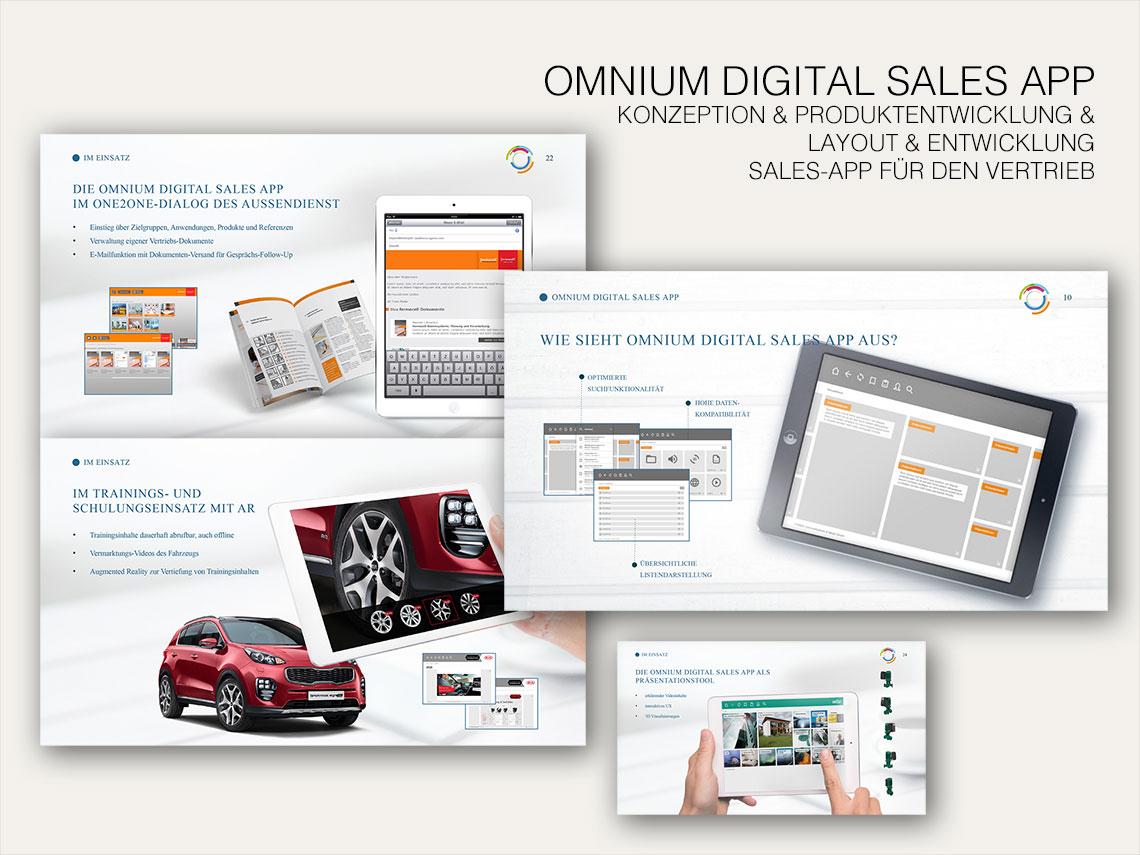 Portfolio Michael Bergmann - Omnium Digital Sales App